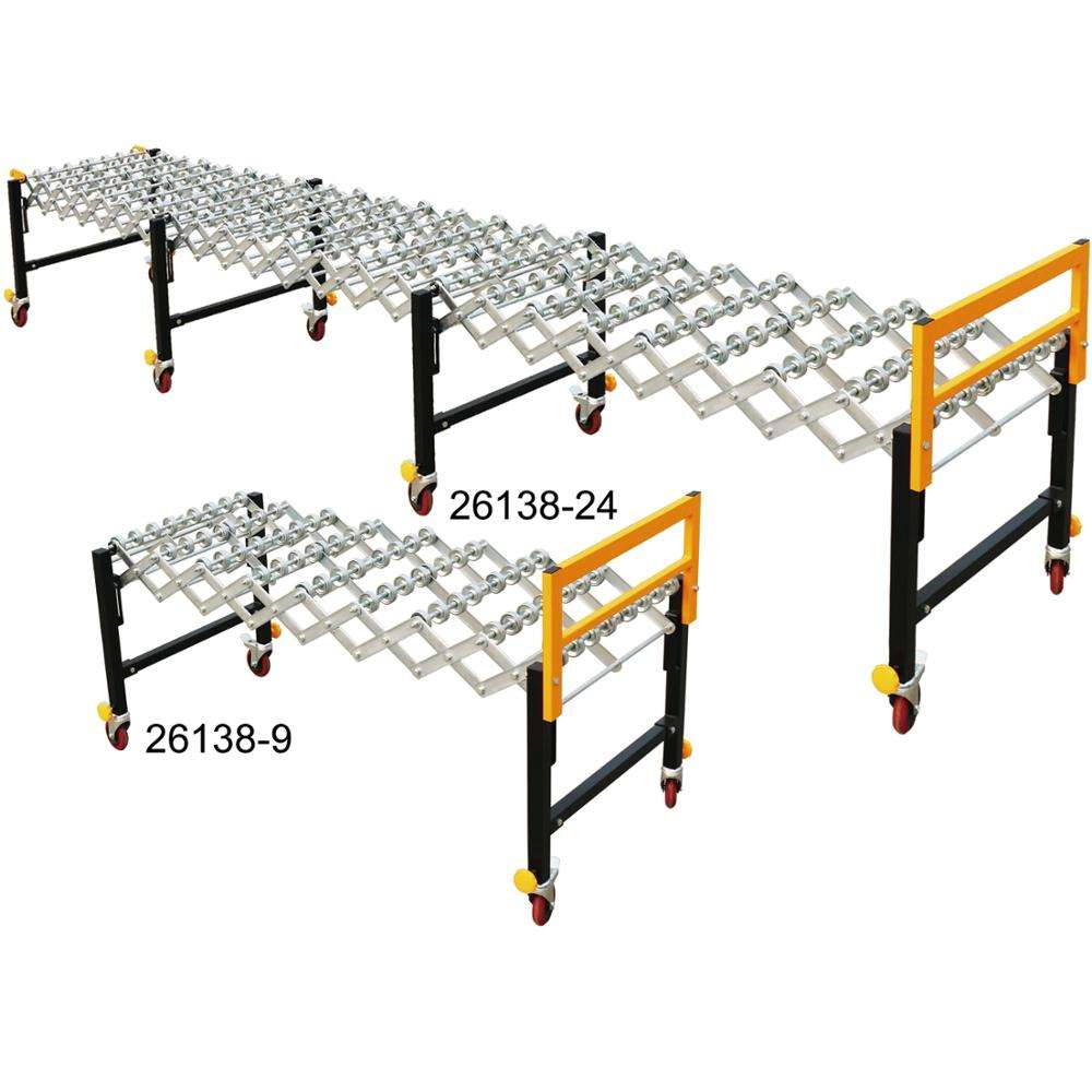 Hot Sale Material handling equipment Expandable Roller Conveyors