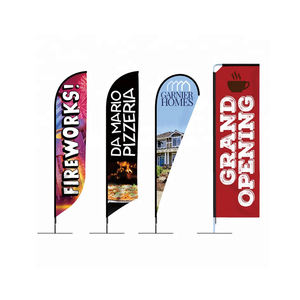 Outdoor Promotion Shark fin Banners Bow Flag