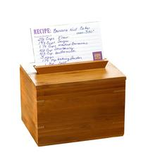 wood or bamboo storage box bamboo Zest Recipe Box