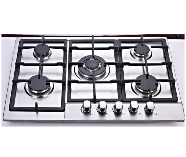 SS57605 stainless steel 5 sabaf built in gas cooktop
