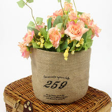 Special- made hemp linen flower packaging bottle bag with round bottom