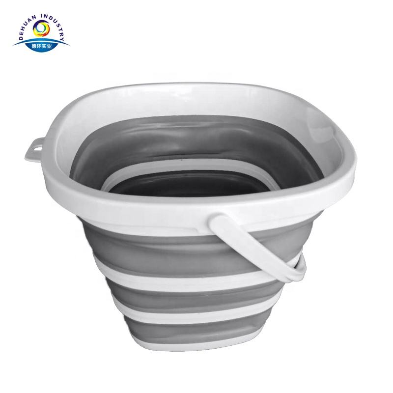 Collapsible Bucket with Strong, Flexible, Compact, BPA Free Design and Sturdy Handle