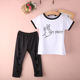 hot sale summer t-shirt children girl clothing set baby garment