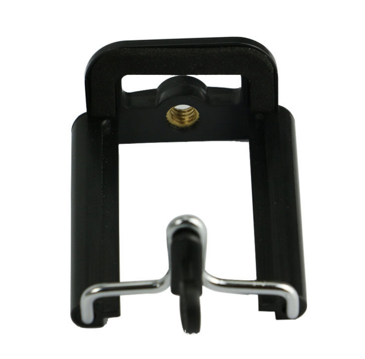Plastic Black Camera Stand phone Clip Bracket Holder Monopod Tripod Mount Adapter for Mobile phones