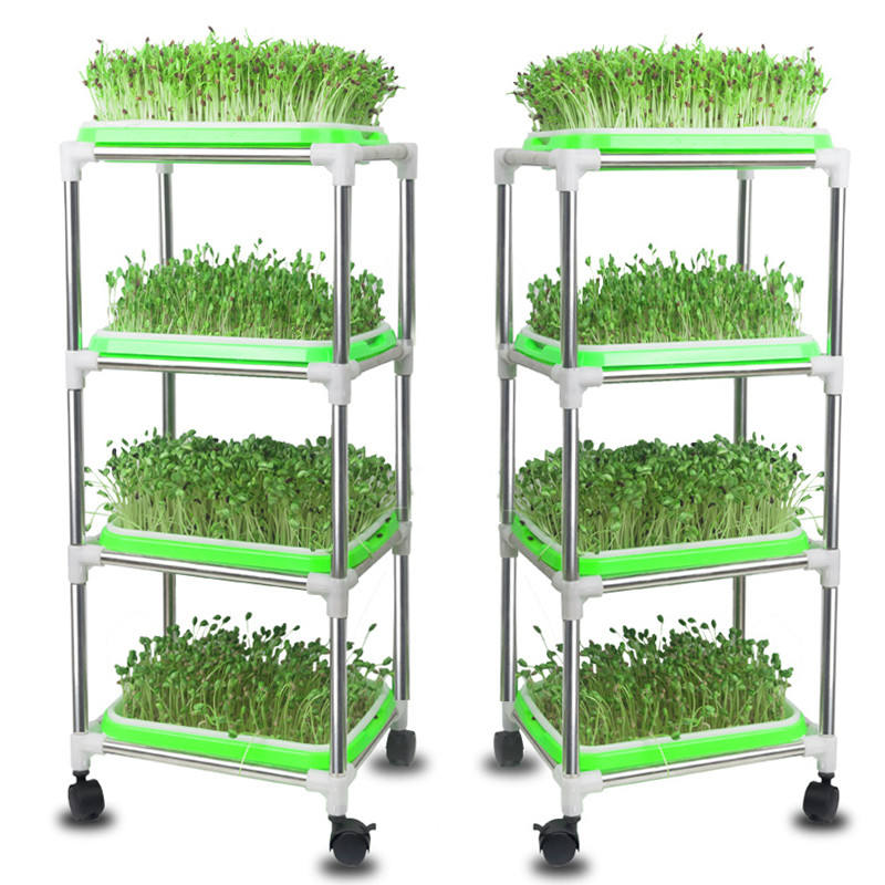 Skyplant Indoor microgreen growing High Quality seedling hydroponic system with trays