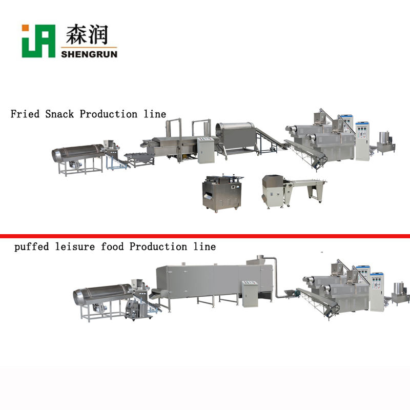 Extrusion Fried Snack 3D Pellet Chips Food Processing Line