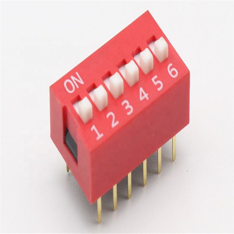 6 Position 6 P DIP Switch 2.54mm Pitch 2 행 12 핀 슬라이드 DIP Switch in stock