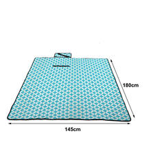 Factory Geometric Design Portable Weighted Picnic Mat miu Color 3 layers Outdoor Picnic Blanket for Outdoor