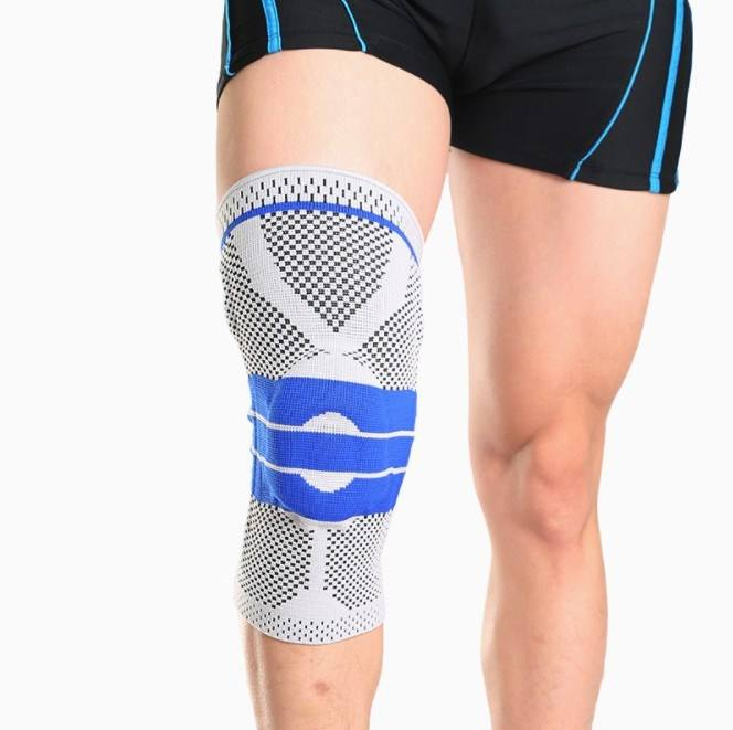 Good price knee compression sleeve hinged knee brace support with silicon pads