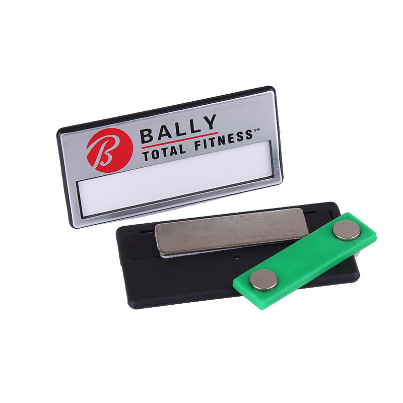 Changeable cheap blank plastic/ABS magnetic name badge