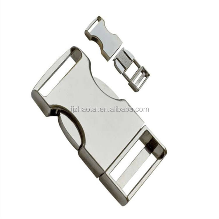quick side metal alloy release buckle in bag parts accessories wholesale Metal Side Release Buckle For Dog Collar