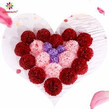 Sunbeauty New Product Backdrop Valentine's Day Party Decorations Tissue Paper Pom Poms Pompoms