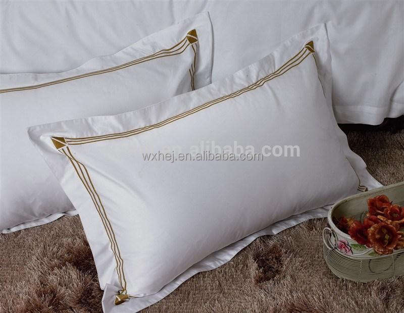 Star Hotel Embroidery design wholesale pillow case/pillow shams