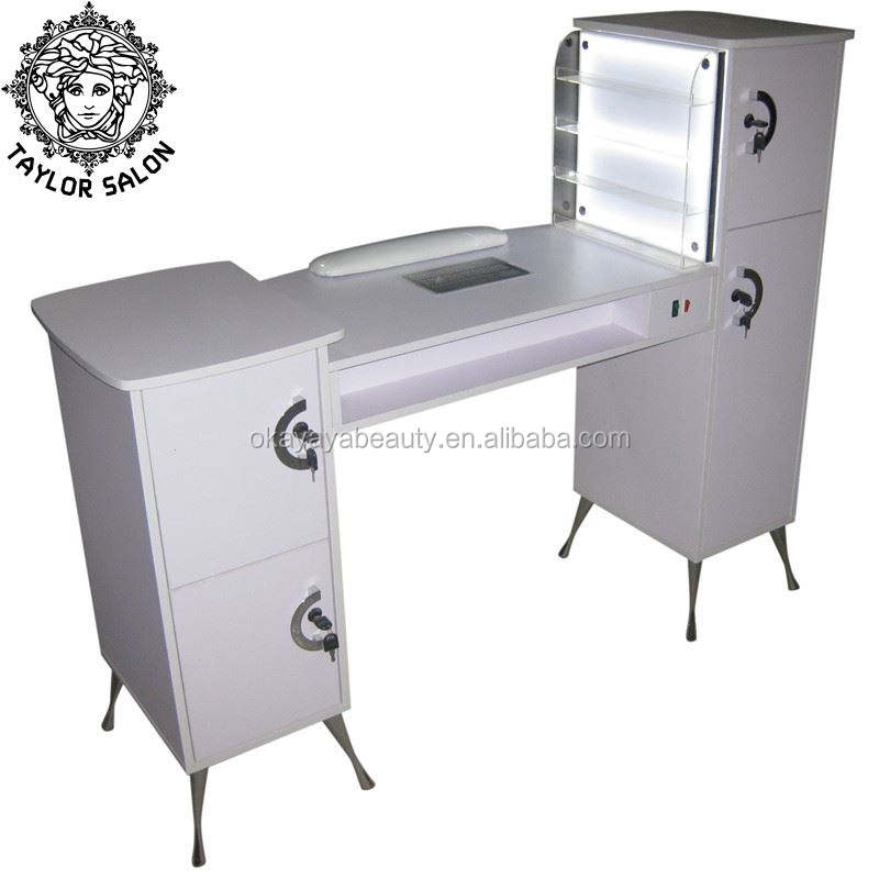 Beauty nail salon equipment led manicure desk cheap nail table manicure tables with fan for sale