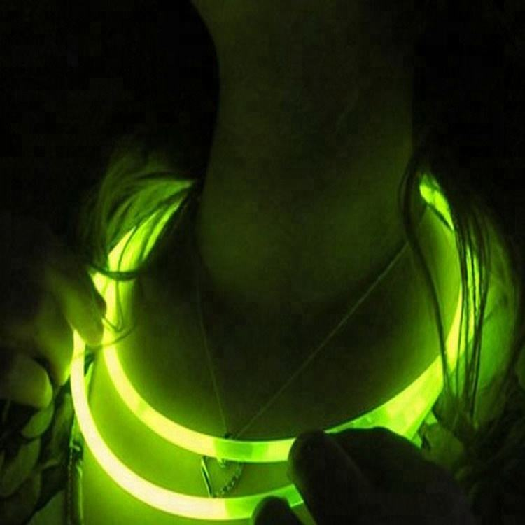 Flashing light necklace neon light luminous christmas 22 inch glow stick necklace