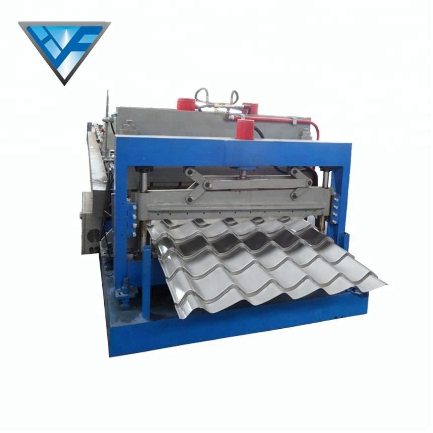 Roof [ Roof Panel Steel ] Steelroof Step Roof Panel Metal Steel Colored Step Glazed Roof Tile Making Machine HF
