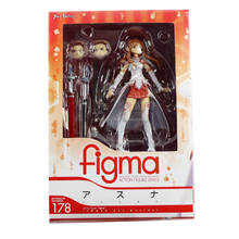 "New in box Japenese Figma Sword Art Online SAO Asuna NO.178 13cm/5"" Action Fiugre Toy Action figure"