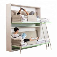 free standing fold up bed  transformable furniture hostel folding muprhy bunk wall bed