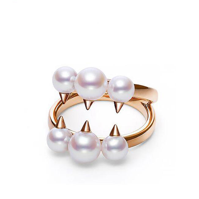 LOZRUNVE Adjustable Fashion Pearl Jewelry 925 Silver Devil Tooth Decay Gold Pearl Ring 2019