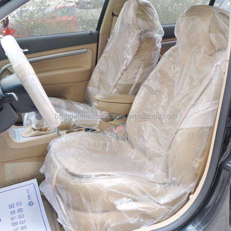 Price advantage for best quality car seat covers plastic protective cover HDPE plasric seat cover