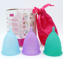 Eco friendly menstrual cups female cup silicone soft private label