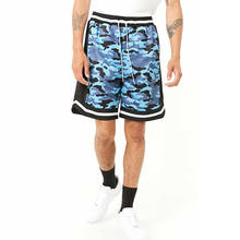 Custom High Quality Camouflage Print Mesh Jersey Gym Shorts Men