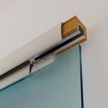 Soft closing aluminum  sliding barn door hardware in aluminum