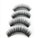 silk and mink fur fake full strip 2 magnets magnetic eyelashes with own customized packaging