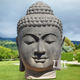 Outdoor antique hand carved stone sculpture marble buddha head bust statue