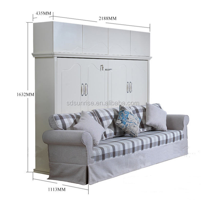 <span class=keywords><strong>Großhandel</strong></span> platzsparende holz <span class=keywords><strong>möbel</strong></span> <span class=keywords><strong>klapp</strong></span> doppel bett mit sofa