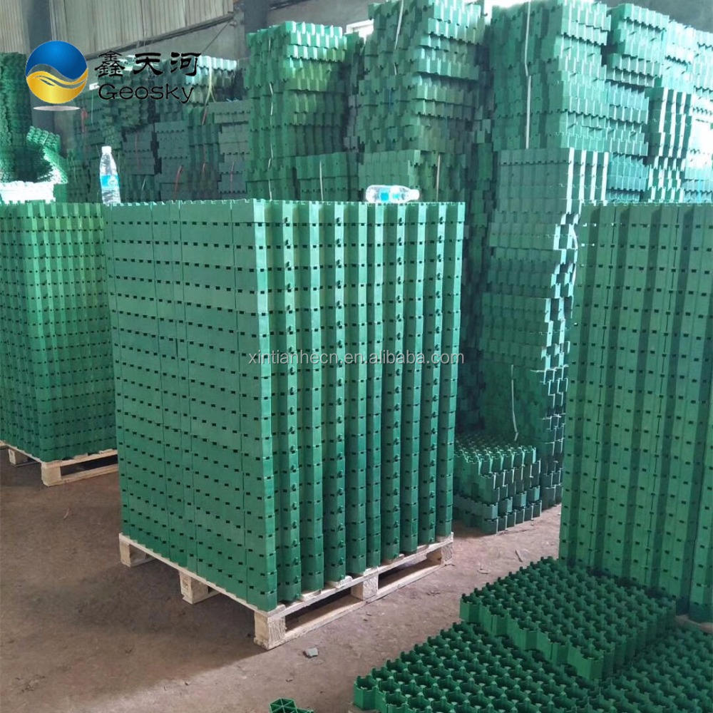 factory price plastic permeable car grass grid pavers
