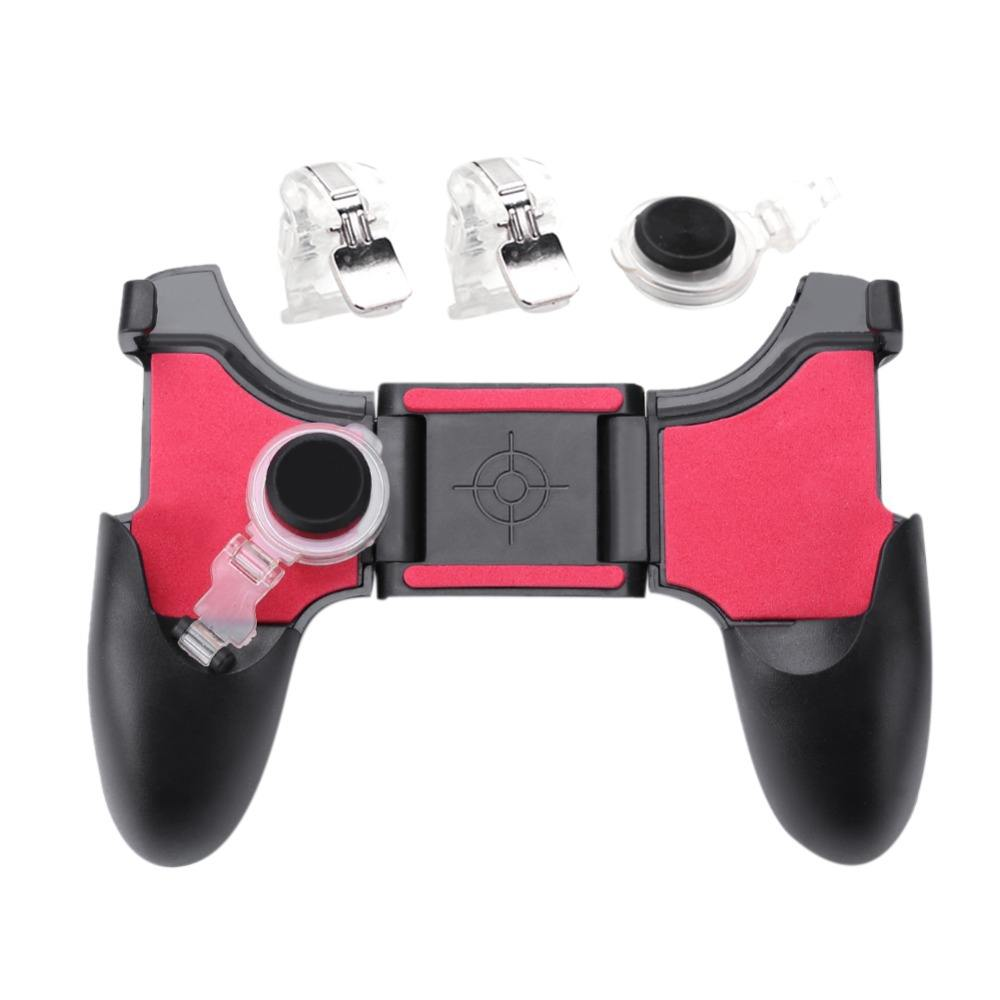 5 in 1 Mobile Phone Gamepad For PUBG Mobile Trigger Fire Button L1R1 Shooter Controller Joystick Aim Key For iPhone Xiaomi