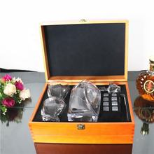 whiskey glass decanter set crystal dencater set with wooden box