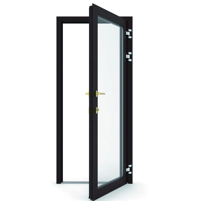 topwindow custom modern design aluminum alloy glass interior bathroom doors aluminium Casement toilet door factory