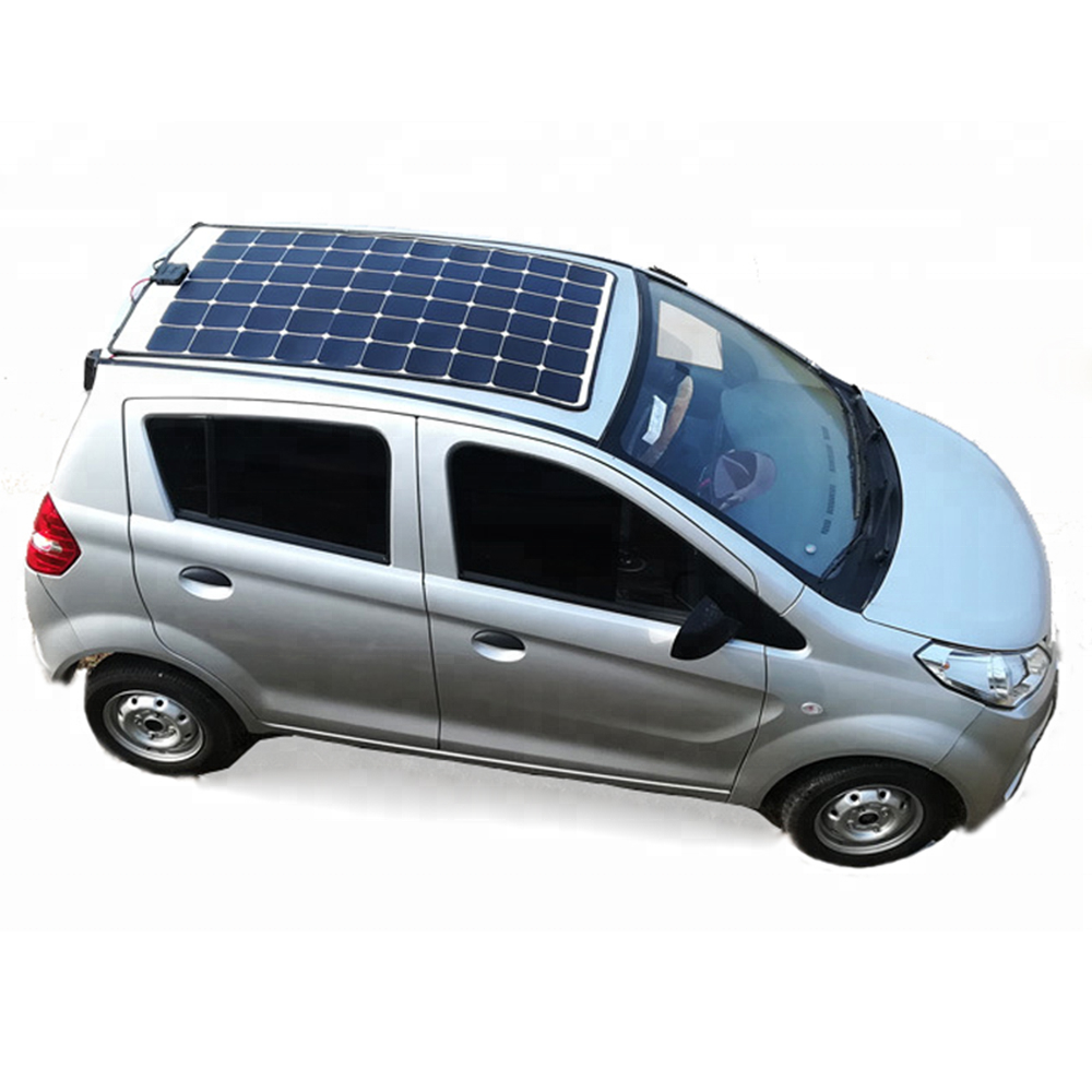 4 wheel New Solar E car Electric Car made in china