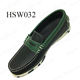 DJJ, excellent cow leather men's boat shoes loafers China factory supply cheap price hiking casual peas shoes HSW032
