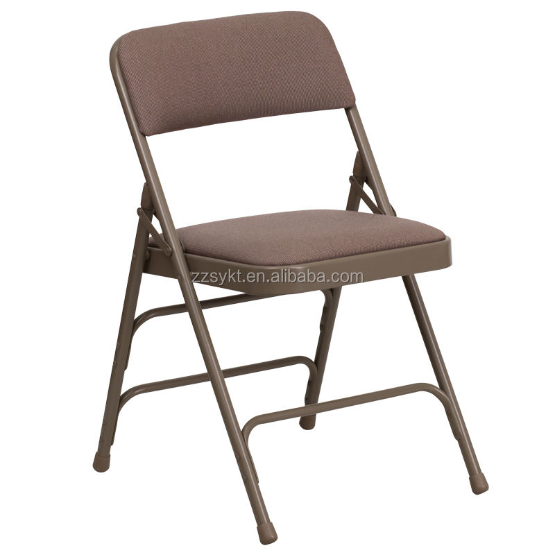 Wholesale metal fabric padded folding chairs