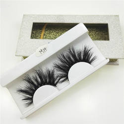 New Product Private Label 25 mm eye lashes 3d siberian mink fur 25mm eyelashes