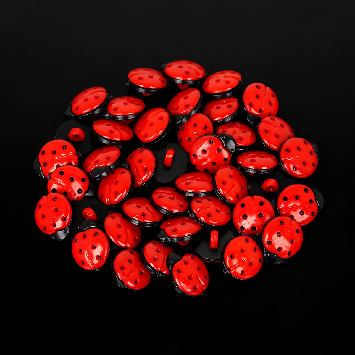 Wholesale 50Pcs 13x15mm Mix Color/Red Ladybug Plastic Sewing Buttons DIY Kid's Appliques/Craft/Sewing Accessories