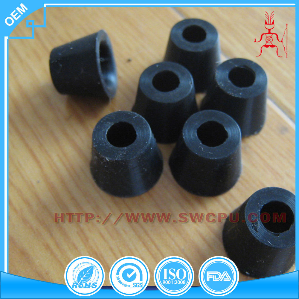 Injection mold customized black natural rubber bumper feet