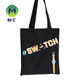 Hot sell Double sides 3 colours twice printed A4 black canvas bag cotton canvas tote bag