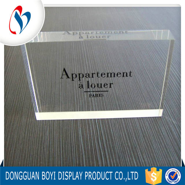 Customized Clear Lucite Acrylic Plexiglass Brand Logo Block Wholesale