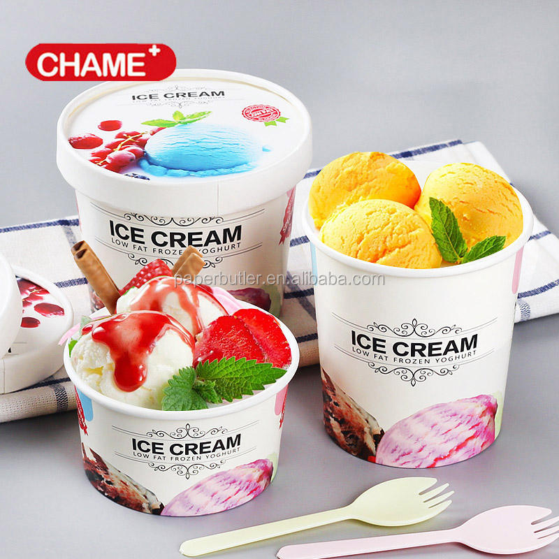 Ice cream paper bowl, ice cream paper cup / tubs, ice cream paper containers