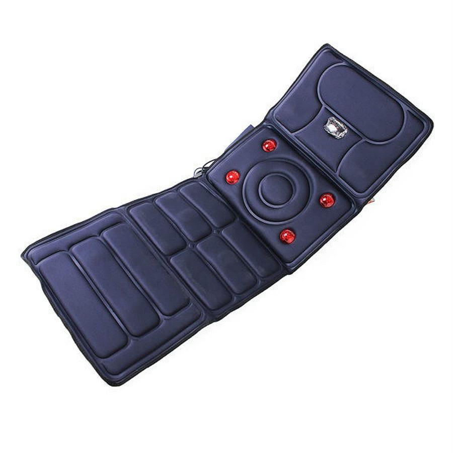 10 Vibrating Motors and 4 Therapy Heating pad Massage Mat Full Body Massager Cushion for Relieving Back Lumbar Leg Pain