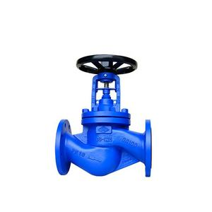 DN100 DIN PN16 Cast Steel WCB Bellow Seal Globe Valve Price