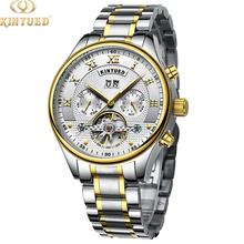 kinyued  Swiss craft waterproof mechanical watches custom logo automatic watches