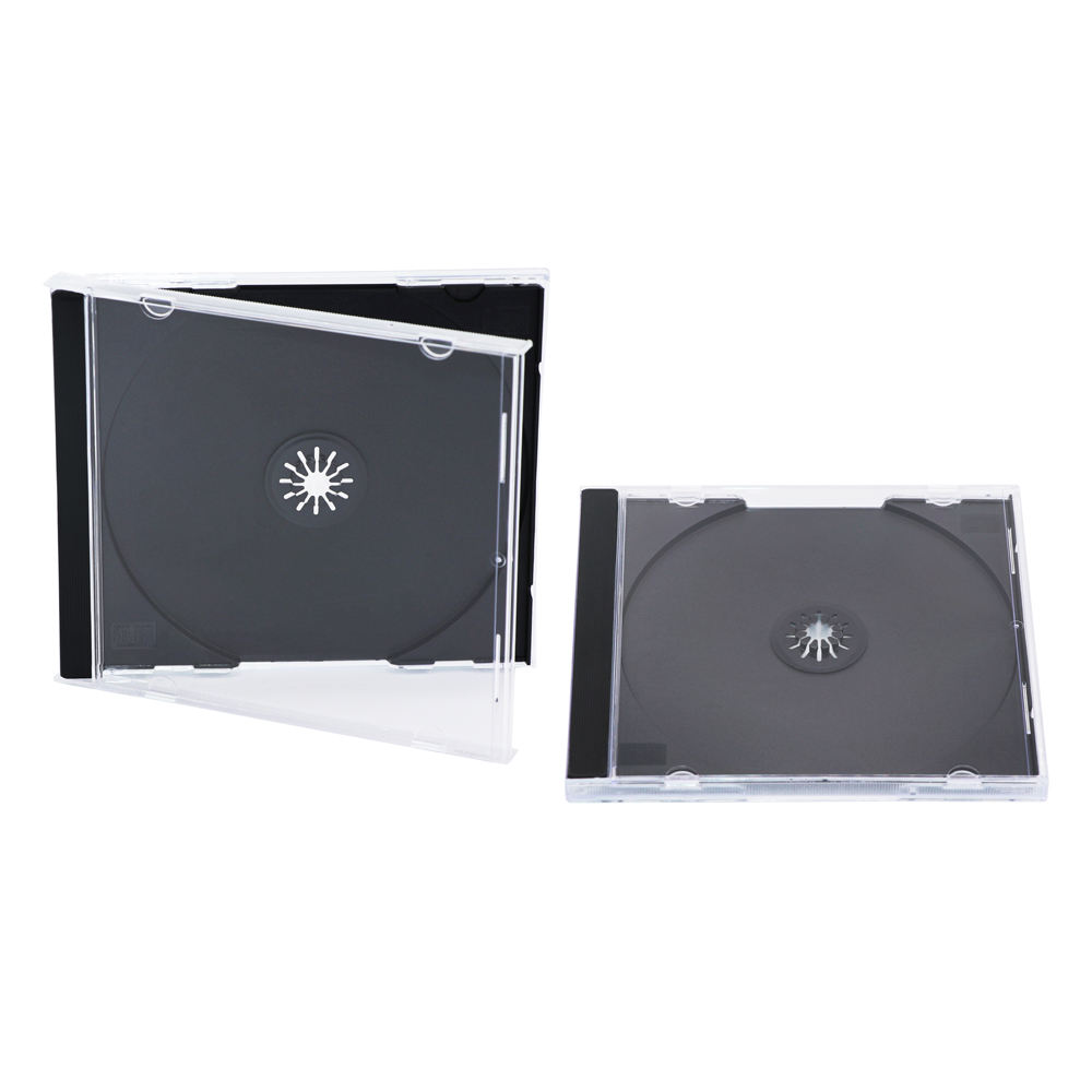 100 Media Replication CD Jewel Cases 10.4mm for 1 Disc with Black Tray