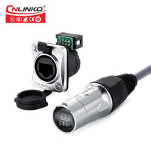 Cnlinko EtherCon Receptacles Cable Carriers cat5e 8p8c rj45 outdoor waterproof connector for LED