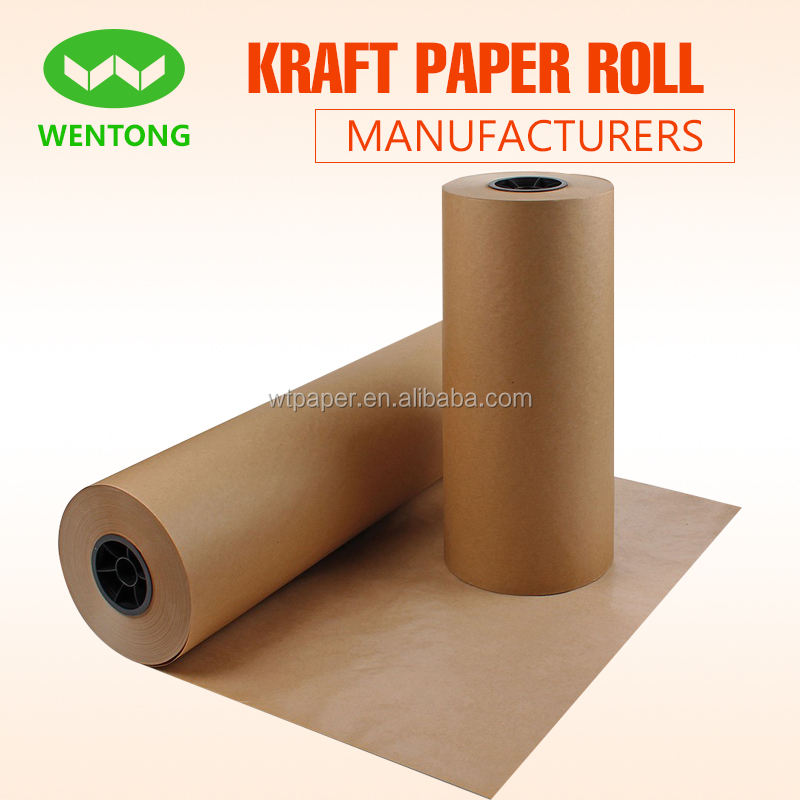 "Kraft wrapping paper roll 30"" x 1800""(150ft) 100% recycled materials multi-use for crafts, art, Gift wrapping,packing"