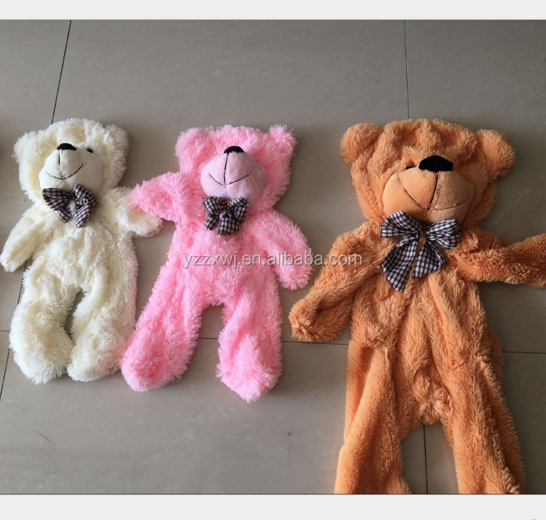 free sample unstuffed big teddy bear 100cm,130cm,160cm,180cm200cm skin of plush teddy bear unstuffed plush animal skins